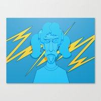 zappa Canvas Prints featuring Zappa by freefallflow