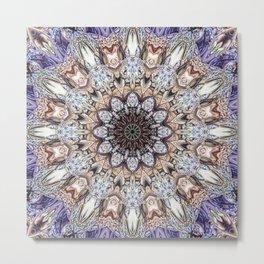 Abstract Gemstones Metal Print