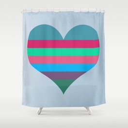 Karen's Heart Shower Curtain