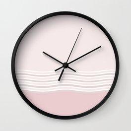 Strawberry Cream Ripples Wall Clock