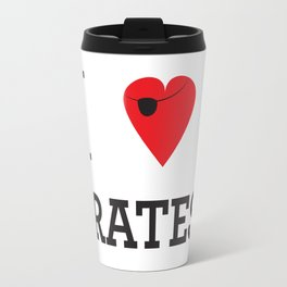 I heart Pirates Travel Mug