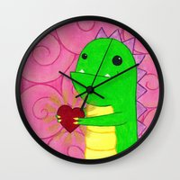 chuck Wall Clocks featuring Chuck by infiniteamethyst