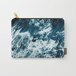 Disobedience - ocean waves painting texture Carry-All Pouch
