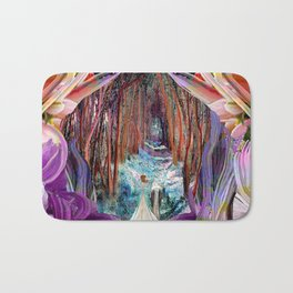 Fairy and Unicorn, Fantasy Forest Bath Mat