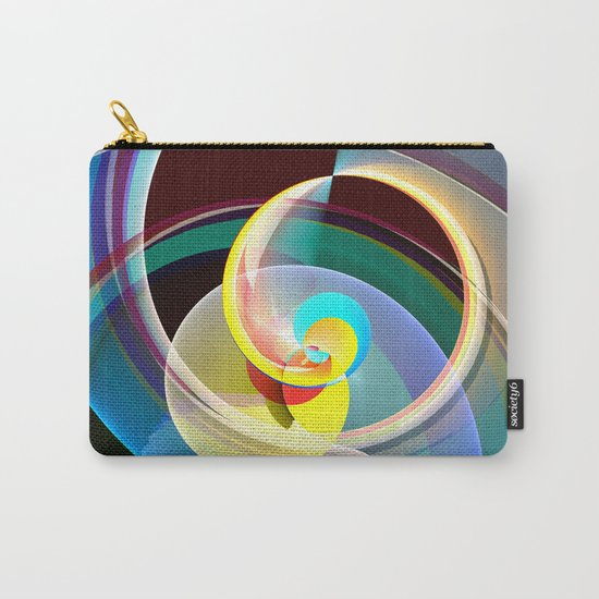 Modern colourful abstract with circles in motion Carry-All Pouch