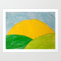 Sunny Hills Art Print