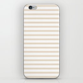Almond Baby Camel Mattress Ticking Wide Striped Pattern - Fall Fashion 2018 iPhone Skin