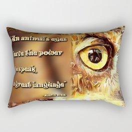 An Animal's Eyes Rectangular Pillow
