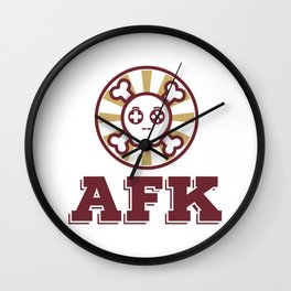 Away From Keyboard Gift Wall Clock