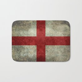 Flag of England (St. George's Cross) Vintage retro style Bath Mat