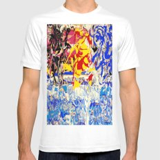 Abstract painting  - Sunset over The Sea MEDIUM White Mens Fitted Tee