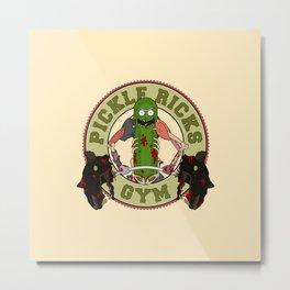 Pickle Rick's Gym Metal Print