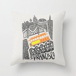 San Francisco Cityscape Throw Pillow