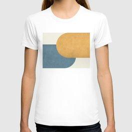 Halfmoon Colorblock - Gold Blue T-shirt