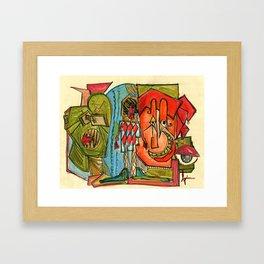 Happy Crimble Framed Art Print