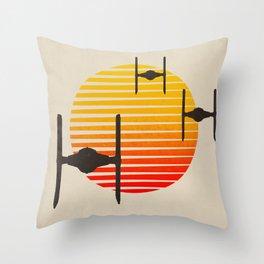 design tie fighters Throw Pillow