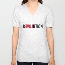 Revolution - Gotta start somewhere. Unisex V-Neck