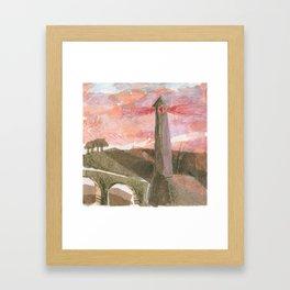 Medieval town-5 Framed Art Print