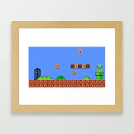 Dr. Mario? No...Doctor Who? Framed Art Print