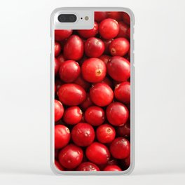 Glossy red cranberries Clear iPhone Case