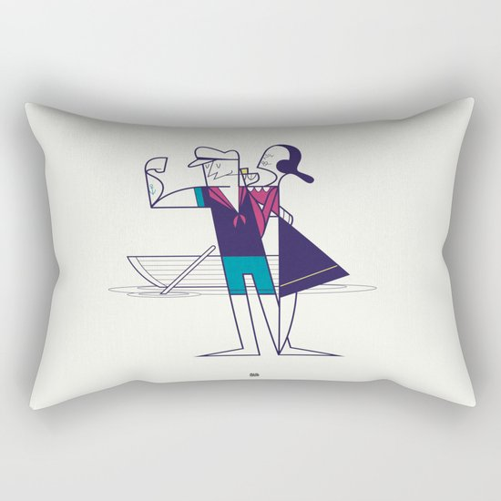 We will sail away Rectangular Pillow