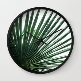Palm Leaves 13 Wall Clock