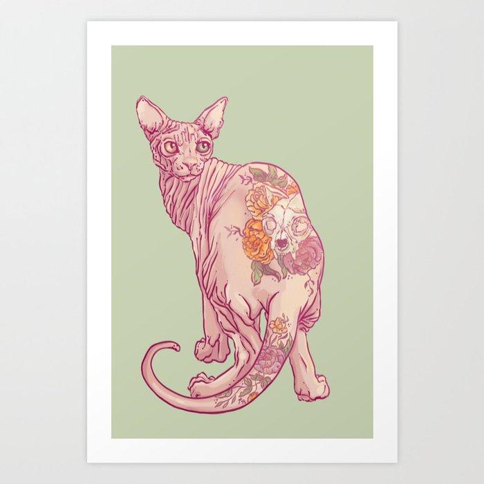 Skinny Cat Art Print