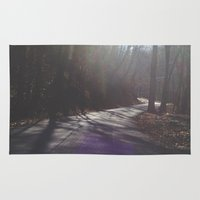 road Area & Throw Rugs featuring Road by Alyson Cornman Photography