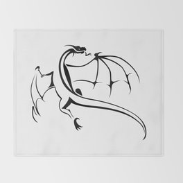 A simple flying dragon Throw Blanket