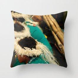 bora boys drumming heads Throw Pillow