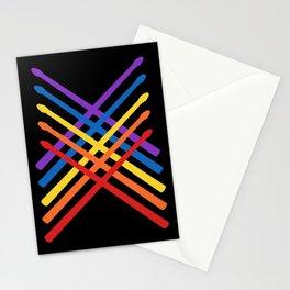 Retro Musician Drum Sticks Stationery Cards