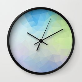 """Through the looking glass"" triangles design Wall Clock"