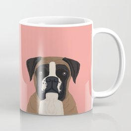 Boxer dog art print cute dog breed customizable pet portrait animal man's best friend dog person  Coffee Mug