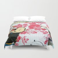 popeye Duvet Covers featuring Double Shot by Natasha N. Walker