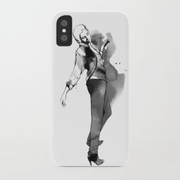Fashion silhouette black and white - Ozie girl iPhone Case