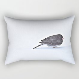 Long Journey Junco Rectangular Pillow