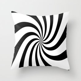 Spiral (Black & White Pattern) Throw Pillow