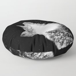 Winter Wolf Floor Pillow