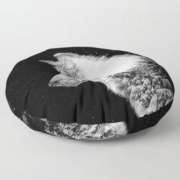 Winter Wolf Floor Pillow