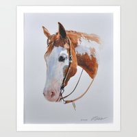 western Art Prints featuring Western Horse by Natalia Elina