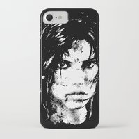 lara croft iPhone & iPod Cases featuring Lara Croft Tombraider by D-fens