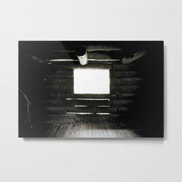 LIGHT LEAKS LOG CABIN Metal Print