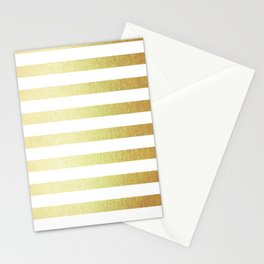 Simply Striped 24K Gold Stationery Cards