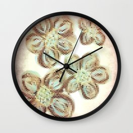 Flower Hive Pink Wall Clock