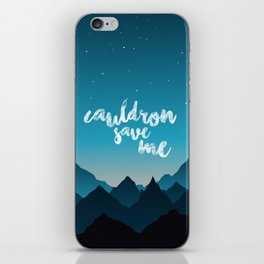 A Court of Thorns and Roses/ Mist and Fury - Cauldron save me iPhone Skin