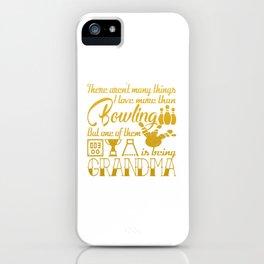 Bowling Grandma iPhone Case