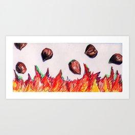 """""""Chestnuts on an Open Fire"""" Art Print"""