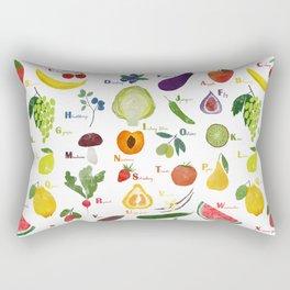 English fruit and vegetables alphabet Rectangular Pillow