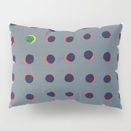 Green floats on Yellow - Crescent Pillow Sham
