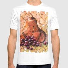 Pear & Grapes Fresco MEDIUM White Mens Fitted Tee